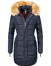 Navahoo Damen Winter Mantel Steppmantel Papaya 17 Farben XS-XXL