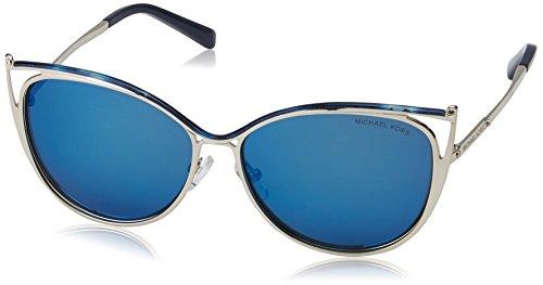 Michael Kors Damen INA 116755 56 Sonnenbrille, Navy/Silver-Tone/Navymirror