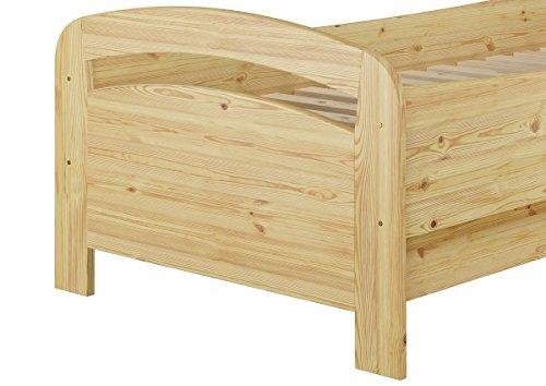 Erst-Holz® Seniorenbett Extra hoch 90×200 Matratze Rollrost Kiefer Bett Massivholz Holzbett 60.43-09 M
