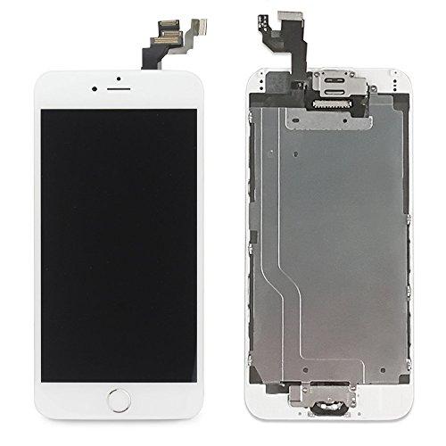 LL Trader Sostituzione dello Schermo Per iPhone 6 (4.7 pollici) Bianca LCD Contatto Digitizer Completa Display Montaggio Con Home Button+Fotocamera Frontale+Sensore di Prossimità+Ear Speaker+Strumenti di Riparazione Completa