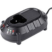 VBESTLIFE Cargador de Batería Adecuado para Makita 10.8V / 12V Batería de Litio con Luz Indicadora LED(Negro)