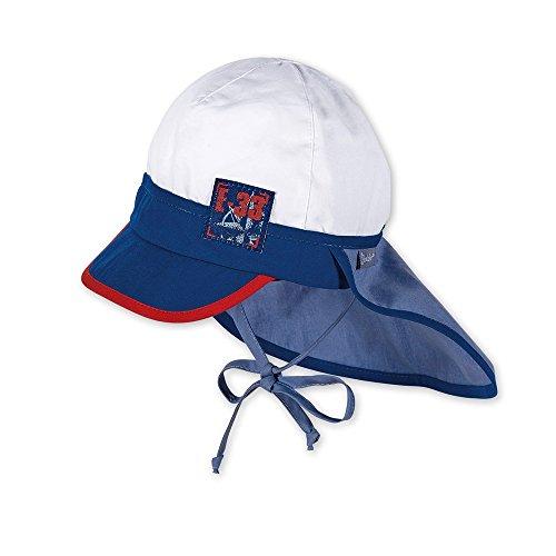 sterntaler-boy-bouchon-cravate-col-protection-bicolor-blanc-et-bleu-53weiss-blau
