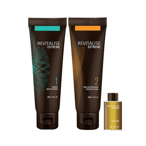 NOUVELLE FORMULE - Bio Organique - Kit Lissage Brésilien - 2 x 100 ml + Huile d'Argan 10 ml - Sans Formol - 2 applications