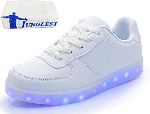 Turnschuhe Leuchtend kleines Für junglest Sportschuhe Erwach 7 Sneaker Aufladen Usb Weiß Led Unisex present Sport Handtuch Farbe Schuhe wOAq884