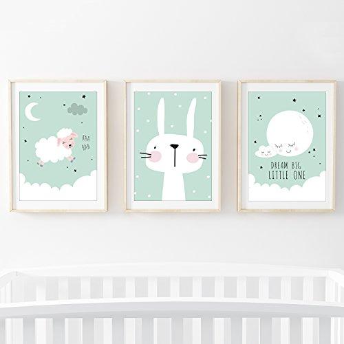 025000426a79b1 Günstig Frechdax 3er-Set Kinderzimmer Babyzimmer Poster DIN A4 ohne ...