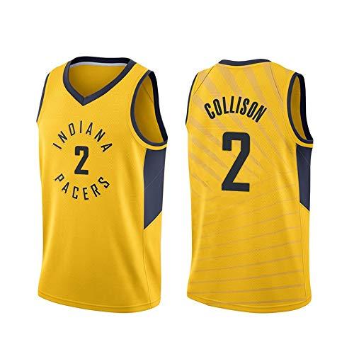 ANHPI-Jersey Darren Collison # 2 Herren Basketball Trikot - NBA Indiana Pacers Swingman Sport Trikots T-Shirt (Color : Yellow, Size : S)