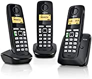Gigaset A220 Trio Cordless Phone with 200 Hrs Standby, 50M Indoor-300M Outdoor Range, Internal-External Call T