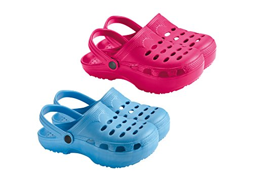 Sveltesse - Lot de 2 paires de Sabots Fun'iz tonifiants Bleu / Rose