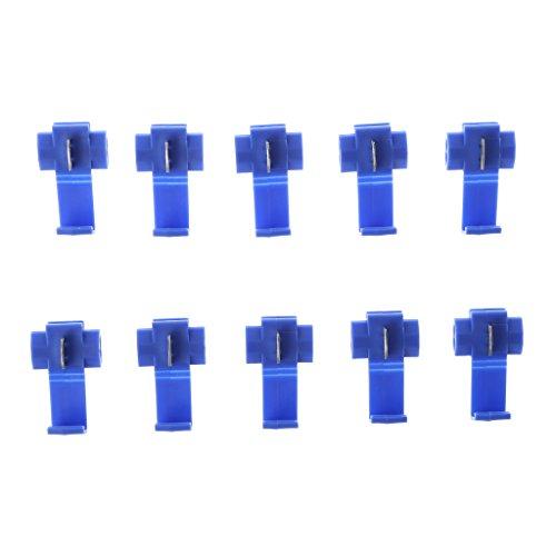 planuuik Auto 10 Stücke 2 Pin T Form Draht Kabelanschlüsse Crimp Scotch Lock Schnellverbinder Car Audio Kit Tool (Scotch-lock-kit)