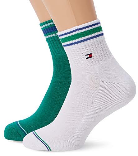 Tommy Hilfiger Herren TH Men Iconic Sports Quarter 2P Socken,Grün (Amazon Green 075),43/46 EU