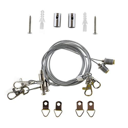 Aufhängeset / Drahtseil-Montageset für SeKi LED-Panele; passend für alle Abmessungen
