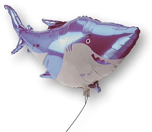 DKB Folienballon XL Helium Luftballon Kinder Ballon Deko Geburtstag Party Spiel (Hai)