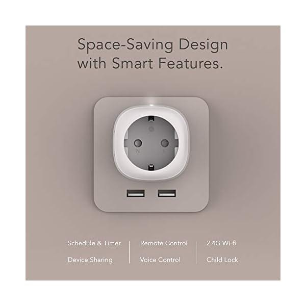 Nooie-Presa-Intelligente-Wifi-Compatibile-con-AlexaGoogle-Home-Mini-Smart-Plug-con-App-Controllo-Remoto-TemporizzazioneControllo-vocaleNon–Necessario-Hub-2PCS