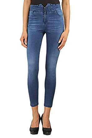 a5e464b0d19e0 X'pose Women's High Rise Jeggings: Amazon.in: Clothing & Accessories