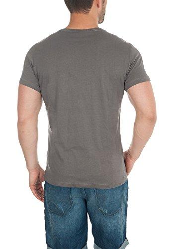 BLEND Tobi Herren T-Shirt Rundhals Kurzarmshirt Smoked Grey (75004)