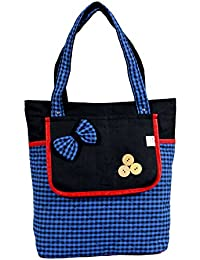 Angel's Women Canvas Black Hand Bag Or Shoulder Bag