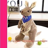 Cute Australian Kangaroo Plush Toy Doll Doll Baby Mother Child Gift Kangaroo No.1: 58Cm High Light Grey Blue Scarf (Small Kangaroo Not Desirable)