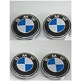 4 BMW enjoliveur Cache Jante moyeux Centre de roue 68mm E36 E39 E45 E90 316 318 M3 Z4 X5 Series 1 3 armes