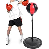 Children's Boxing Set, Free Standing Boxing Punch Ball Bag with Gloves and Pump for Kids Ages 4-10, Adjustable Height in 70 - 105CM