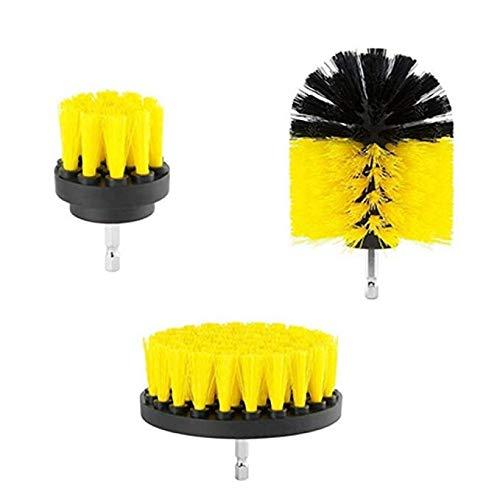 Xuzin Elektrische Waschbürste für Badewanne und Fliesen, elektrische Bohrmaschine, Handbohrer, Küchenreinigungsbürste, 1 Sets (gelb)