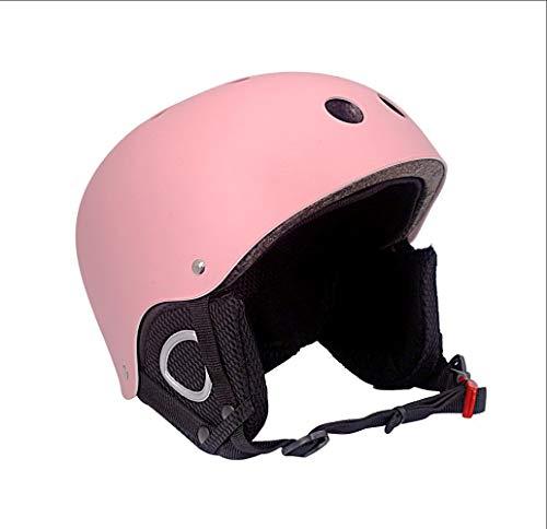 Outdoor-Skihelm für Herren, zum Skifahren, Skaten, Skateboardfahren, Radfahren,Pink,L