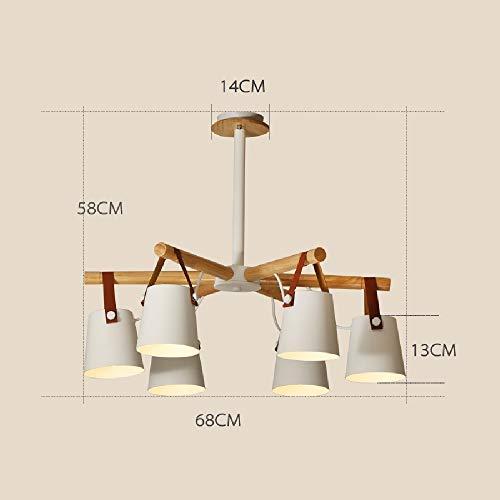 Wylolik Nordic Kreativität Holz Hängen Beleuchtung Schlafzimmer Wohnzimmer Dekoration Deckenleuchte Weiß Matt 22