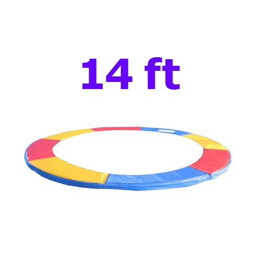 Greenbay 14FT Replacement Trampoline Surround Pad Foam Safety Guard Spring Cover Padding Pads Tri-Colour