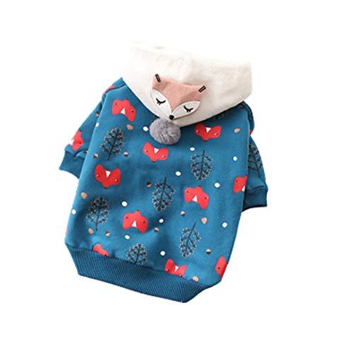 TMMDZZ Hundemantel Dog Hund Hoodies Kleidung, Pet Puppy Katze Niedlicher Baumwoll Warm Hoodies Coat PulloverBlauXXXL