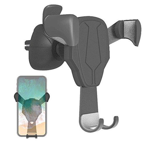 Halterung Lüftung (ICOUVA HandyHalterung Auto KFZ Halterung lüftung Universal Multi-Winkel Schwerkraft für iPhone 8 / 8 Plus / X / 7 / 7 Plus / 6S, Samsung Note 8 / Galaxy S8 und jedes andere Smartphone)
