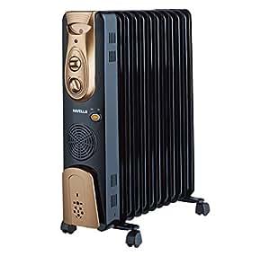 Havells OFR - 11Fin 2900-Watt PTC Fan Heater (Black)