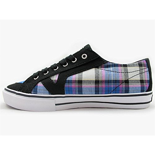 Vans  W Tory (Plaid), Chaussures femme (Grid Plaid) Black/Nautical Blue