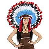 WIDMANN wdm29285–traje para Adultos tocado INDIO lujo con Marabu ', Multicolor, Talla única