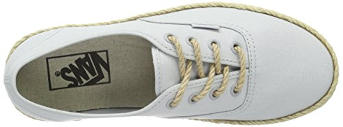 Vans Authentic Espadrille - Chaussures De Sport Basses Unisexes - Gris Adulte (toile / Micro Puce)