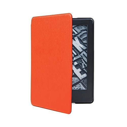für Amazon Kindle Paperwhite 4 2018 Hülle Cover + Touch pen + HD Screen Protective Film [ Paperwhite 10 Generation Smart Ledertasche Case ] - MMLC (Orange)