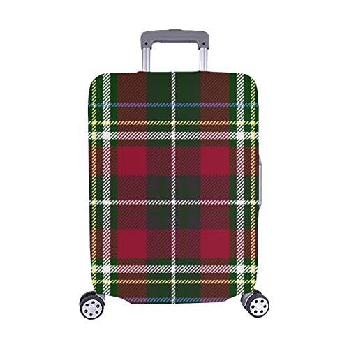 Schottisches Karo-muster ((Nur abdecken) Grün Rot Karo Textur Textur Staubschutz Trolley Protector case Reisegepäck-Schutzkoffer-Abdeckung 28,5 X 20,5 Zoll)