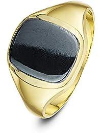 Theia Men's 9 ct Yellow Gold, Cushion Shape Signet Ring