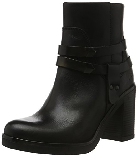 Bronx Damen Blue Kurzschaft Stiefel, Mehrfarbig (Black/Bronze 797), 39 EU (6UK) (Heel High Nappa Boot Ankle)