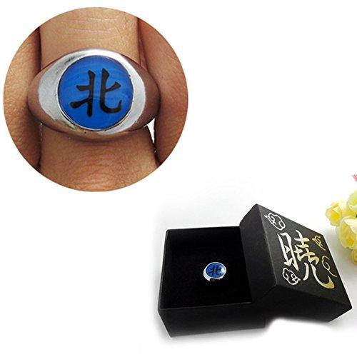 Loheag Clinor Naruto Akatsuki Ringe aus Metall für Cosplay und Sammlung (北 - - Akatsuki Kakuzu Cosplay Kostüm
