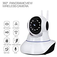 1080p Pan/Tilt 360° Panoramic Wireless WiFi IP Camera, CTVISON Smart Security Home Camera for Pet,Elder,Baby Monitor with Panoramic View Night Vision,Two-Way Audio,Motion Detection