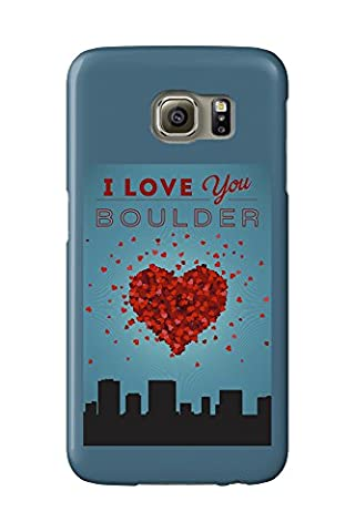 I Love You Boulder, Colorado (Galaxy S6 Cell Phone Case, Slim Barely There)