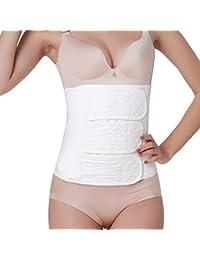 Feoya Mujeres Faja Postparto Reductora Cintura Moldeadora con Velcro Transpirable Elástica Recuperar Abdomen