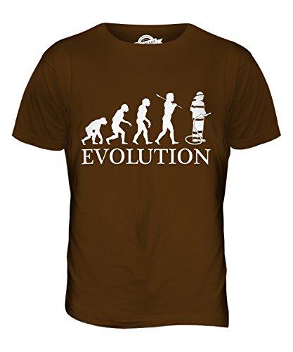CandyMix Feuerwehrmann Evolution Des Menschen Herren T Shirt Braun