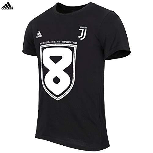 Juventus Maglia Scudetto 2019 100% Originale - Bambino - Maglia Celebrativa Nera - Campioni d'Italia - Taglia 128 cm - 7/8 Anni