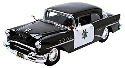 maisto-31295bk-w-buick-century-police-1955-echelle-1-24