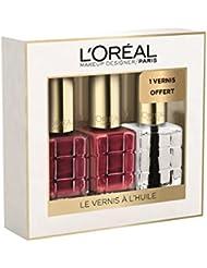 L'Oréal Paris Make Up Designer Coffret Fêtes des Mères 3 Vernis à l'Huile Color Riche Collection Rouge & Transparent Dont 1 Offert