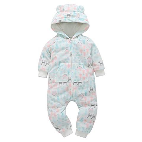 Bekleidung Hirolan Baby Langarm dicke Reißverschluss Stück Liebe gedruckt Jeans,Säuglings