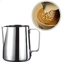 Hosaire Inox Pot à Lait pour Faire des Cappuccino avec Votre Machine pour le Café la Mousse de Lait 150ml