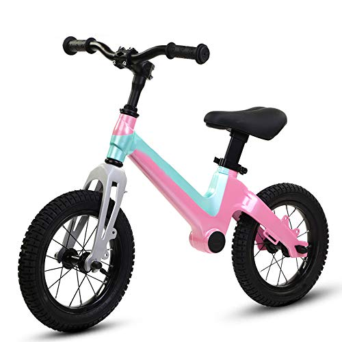 BABYZIXCH Balance Fahrrad FüR 2-6Jahre Alter Junge Und MäDchen,Laufrad Mit Verstellbarem Sitz Und GriffhöHe,Kein Pedal,Geeignet FüR HöHe 100-130Cm