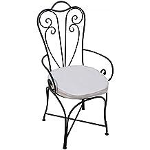 ORIGINAL Orientalischer Stuhl Gartenstuhl Aus Metall Schwarz Marbella |  Marokkanischer Balkonstuhl Inkl. Sitzkissen Stuhlkissen |