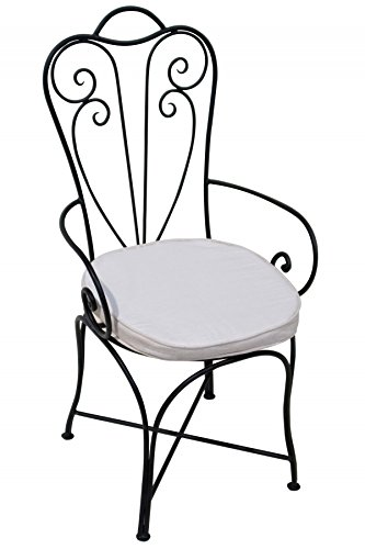 ORIGINAL Orientalischer Stuhl Gartenstuhl aus Metall Schwarz Marbella | Marokkanischer Balkonstuhl...